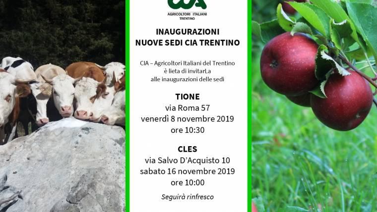 Nuove sedi CIA Trentino