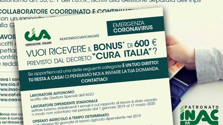 Decreto Cura Italia. Bonus di 600 euro