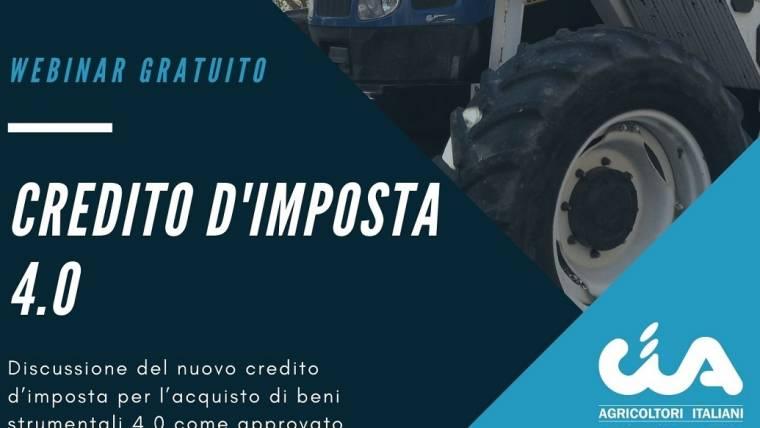 webinar gratuito CREDITO D'IMPOSTA 4.0