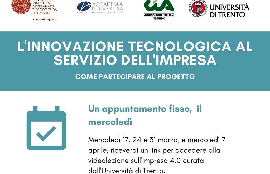 Webinar L'innovazione tecnologica al servizio dell'impresa