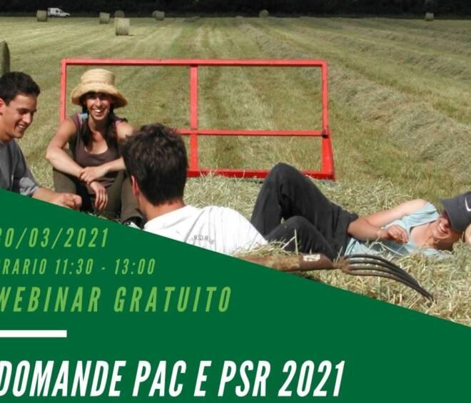 Webinar gratuito DOMANDE PAC E PSR 2021